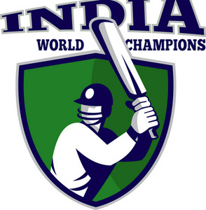 Cricket Player Batsman Shield India World Champions