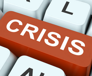 Crisis Key Means Calamity Or Situation