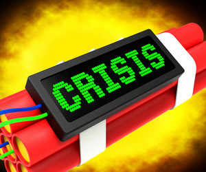 Crisis Message On Dynamite Shows Emergency And Problems