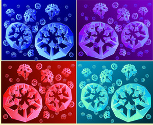 Cristal Snowflakes. Vector.