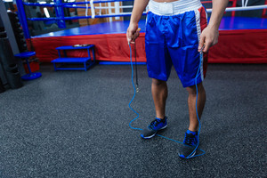 Cropped image of a male boxer legs
