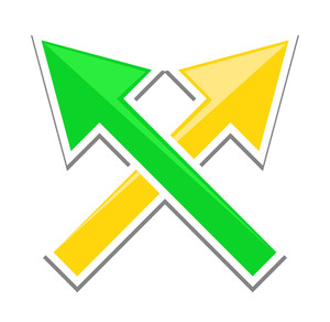 Cross Arrows Sticker