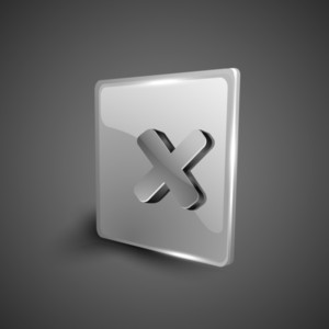 Cross Mark Validation Symbol Icon Set.