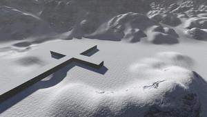 Cross Symbol In Snow