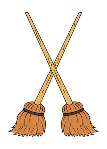Crossed Broom Vector