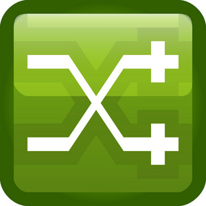 Crossed Paths Green Tiny App Icon