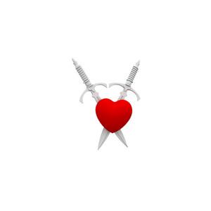 Crossed Sword In Heart 3d Render