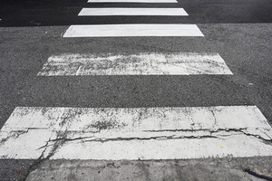 Crosswalk on the road