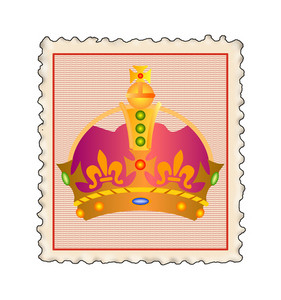 Crown In Stamp