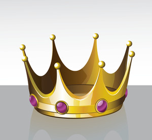 Crown. Vector.