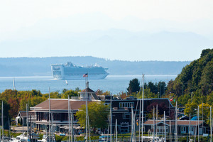 Cruise Ship And Marina Seattle