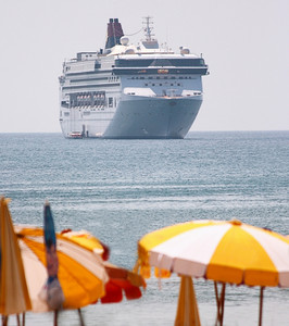 Cruise Ship In A Tropical Climate