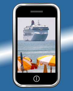 Cruise Ship Travel Picture On Mobile Phone