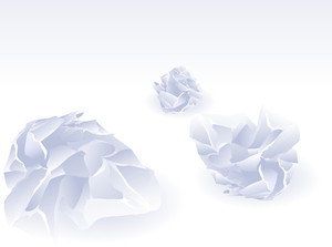 Crumpled Papers. Vector.