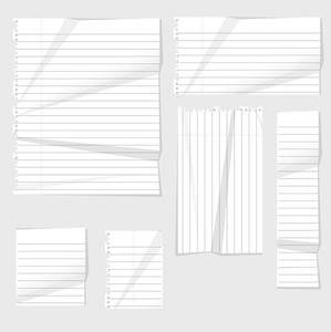Crushed Vector Paper Elements