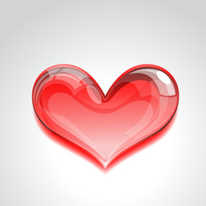 Crystal Red Heart