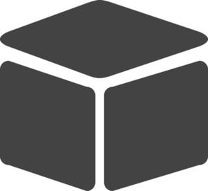 Cube Glyph Icon