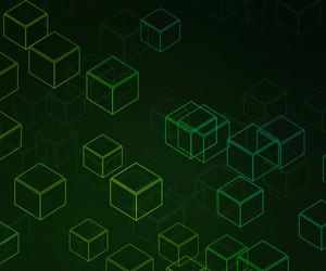 Cubes Gree Background