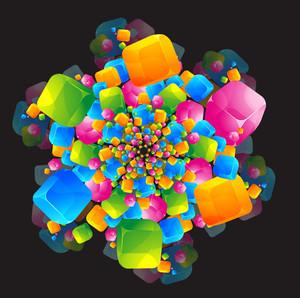 Cubic Vortex. Vector.