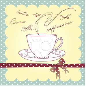 Cup Of Coffee Or Tea. Vector Illustration.-