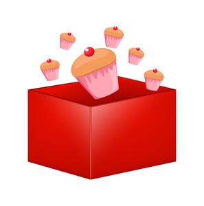 Cupcakes Vector Box