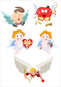 Cupid Cartoon Vectors