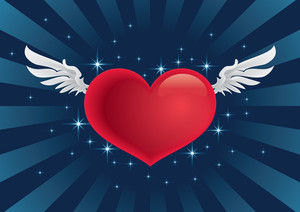 Cupid Heart Flying With Your Message