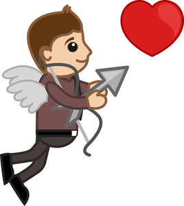 Cupid Office Man Cartoon