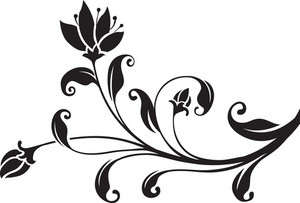Curl Floral Vector Element