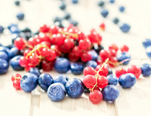 Currant And Blueberries