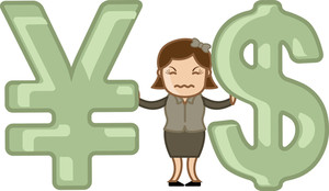Currency Exchange Loss - Vector Illustration