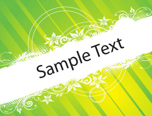 Curve And Circles Elements For Sample Text In Green Pattern