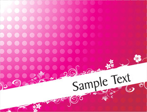 Curve And Floral Elements For Sample Text In Gradient Pink
