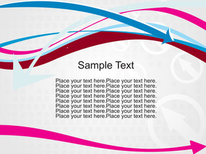 Curve Arrows Stripes With Sample Text