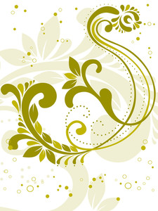 Curve Design Background With Tattoo Vector