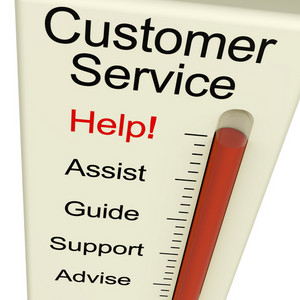 Customer Service Help Meter Shows Assistance Guidance And Support