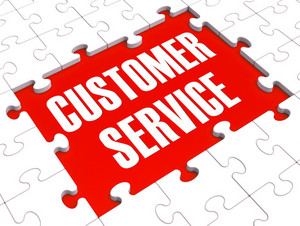 Customer Service Puzzle Showing Support And Assistance