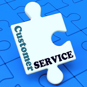 Customer Service Shows Help Or Assistance
