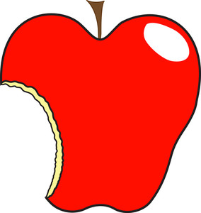 Cut Apple Shape