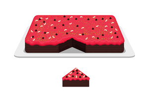 Cut Cake Vector