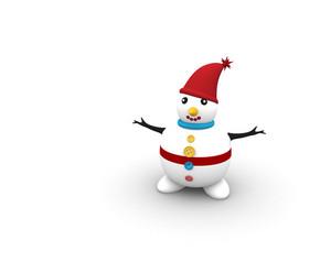 Cute 3d Snowman