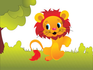 Cute Animal Lion