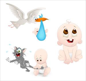Cute Baby Vectors