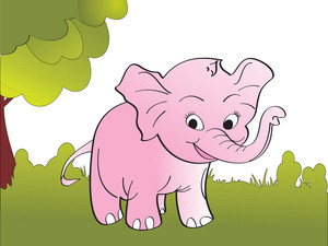 Cute Big Elephant Background