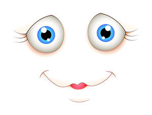 Cute Cartoon Face Expression