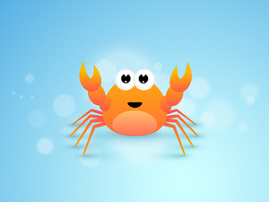 Cute Cartoon Of Crab.