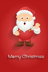Cute Cartoon Santa Banner