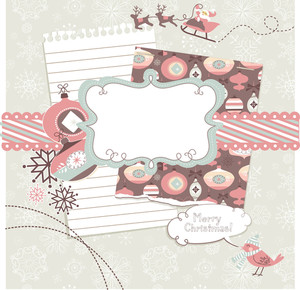 Cute Christmas Scrapbook Elements