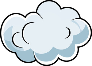 Cute Comic Cloud Cartoon Vector