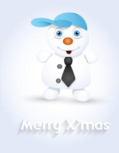 Cute Cool Snowman